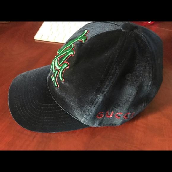a7df5c08 Gucci L.A. Velvet baseball cap